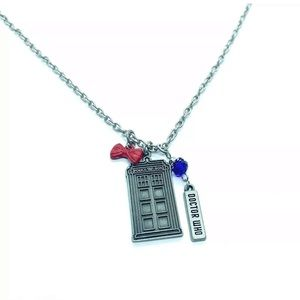 Jewelry - BBC TV Doctor Who Pendant Chain Necklace Silver Tn